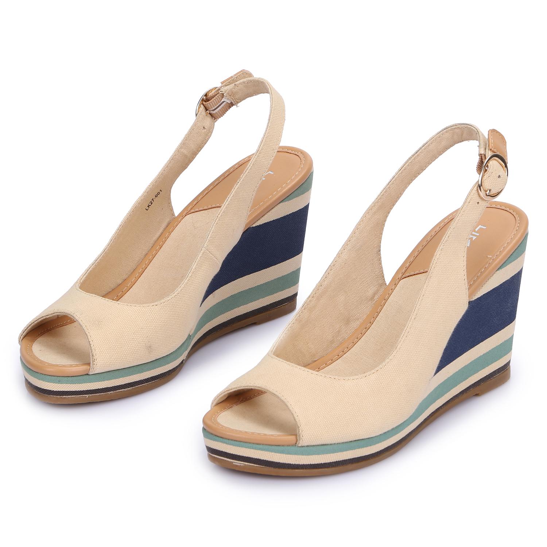 liking damen sandalen sandaletten keilabsatz wedges. Black Bedroom Furniture Sets. Home Design Ideas